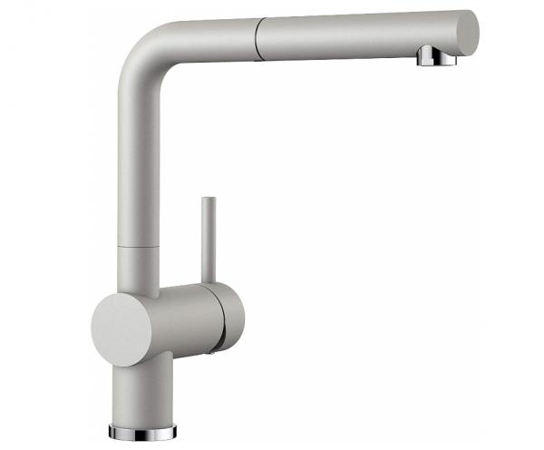 Blanco Linus-S 520747 Eenhendel Keukenkraan Silgranit Look Met Uittrekbare Handdouche Parelgrijs