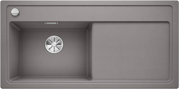 Blanco Zenar Xl 6-S 523976 Aluminium Metallic Spoelbak Links Silgranit Inclusief Draaiknopbediening Inclusief Snijplank Onderbouw Of Opbouw