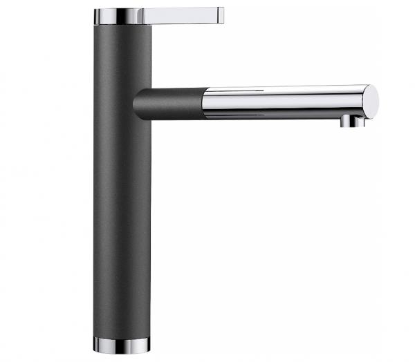 Blanco Linee-S 518438 Keukenkraan Met Uittrekbare Handdouche Silgranit-Look Antraciet