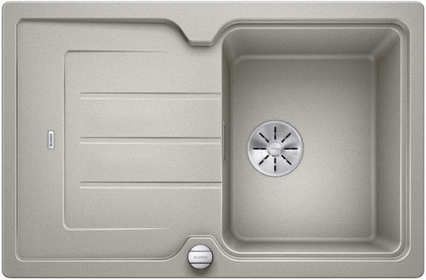 Blanco Classic Neo 45 S 524002 Parelgrijs Spoelbak Silgranit Inclusief Draaiknopbediening Inclusief Snijplank Opbouw