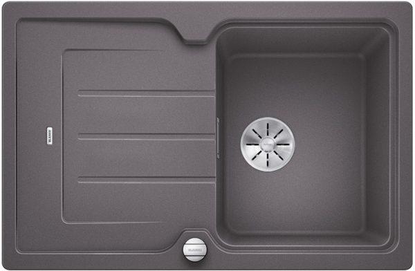 Blanco Classic Neo 45 S 523997 Rotsgrijs Spoelbak Silgranit Inclusief Draaiknopbediening Inclusief Snijplank Opbouw