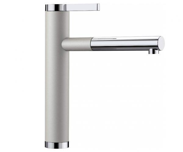 Blanco Linee-S 520745 Keukenkraan Met Uittrekbare Handdouche Silgranit-Look Parelgrijs