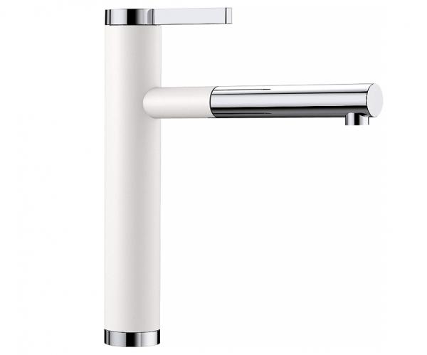 Blanco Linee-S 518441 Keukenkraan Met Uittrekbare Handdouche Silgranit-Look Wit
