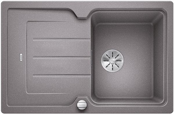 Blanco Classic Neo 45 S 524000 Aluminium Metallic Spoelbak Silgranit Inclusief Draaiknopbediening Inclusief Snijplank Opbouw