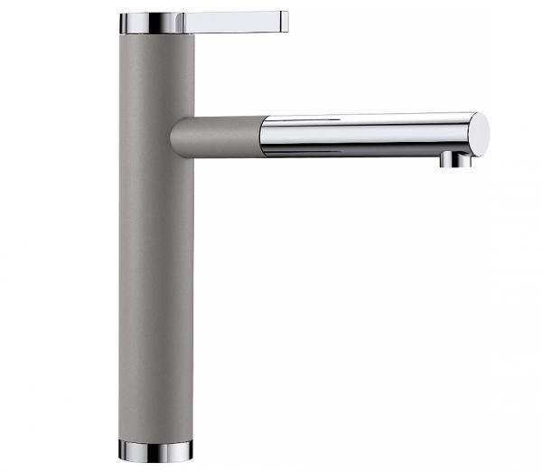 Blanco Linee-S 518439 Keukenkraan Met Uittrekbare Handdouche Silgranit-Look Aluminium Metallic