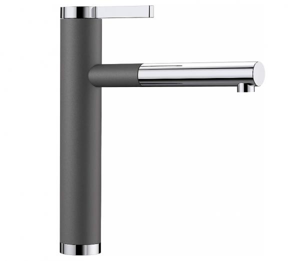 Blanco Linee-S 518804 Keukenkraan Met Uittrekbare Handdouche Silgranit-Look Rotsgrijs