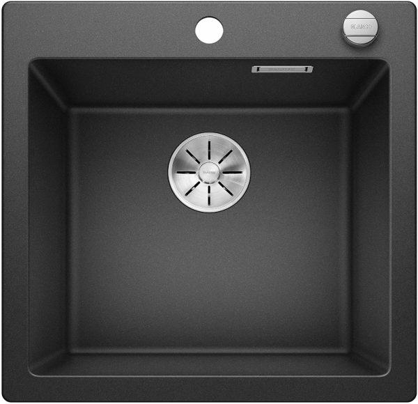 Blanco Pleon 523676 Antraciet Spoelbak Silgranit Inclusief Draaiknopbediening Opbouw