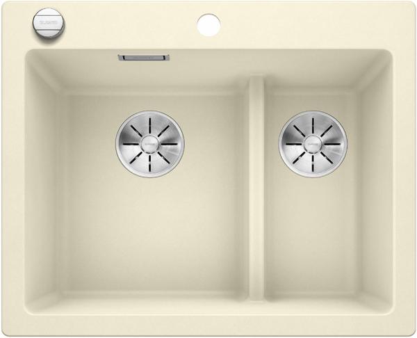 Blanco Pleon 6 Split 523701 Jasmijn Spoelbak Silgranit Inclusief Draaiknopbediening Onderbouw Of Opbouw