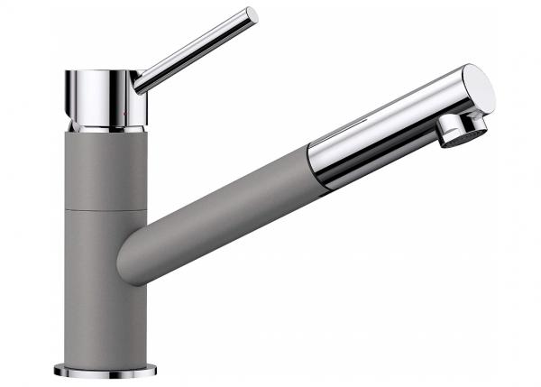 Blanco Kano-S 525039 Eenhendel Keukenkraan Met Uittrekbare Handdouche Silgranit Look Aluminium Metallic