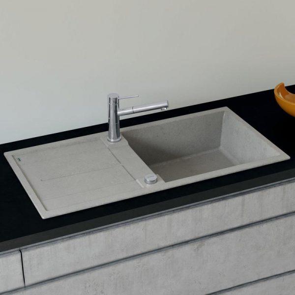 Blanco Metra Xl 6 S 525315 Silgranit Betonlook Spoelbak Inclusief Draaiknopbediening Omkeerbaar Onderbouw Of Opbouw