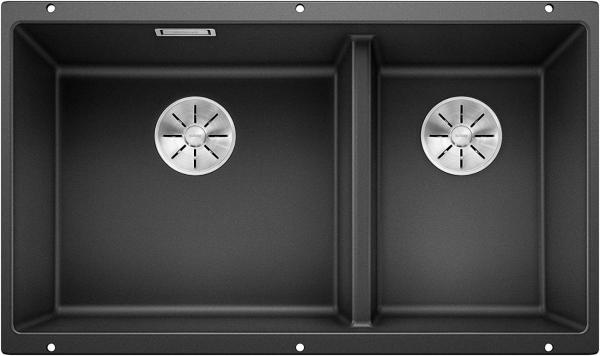 Blanco Subline 430/270-U 523151 Antraciet Dubbele Spoelbak Silgranit Onderbouw