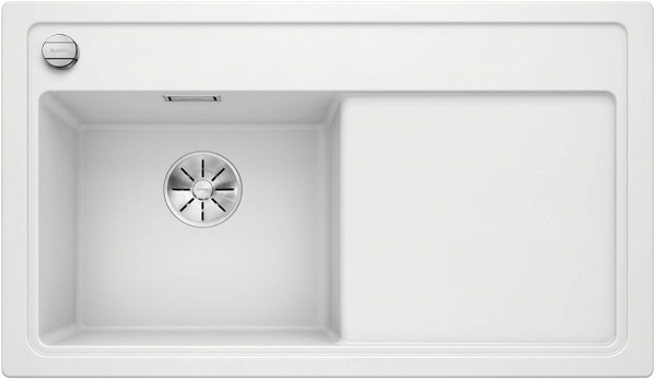 Blanco Zenar 45-S 523810 Wit Spoelbak Links Silgranit Inclusief Draaiknopbediening Onderbouw Of Opbouw