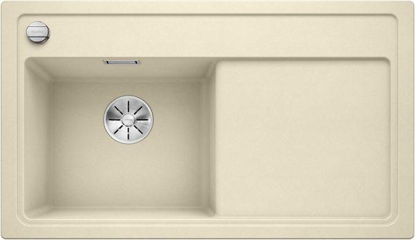 Blanco Zenar 45-S 523812 Jasmijn Spoelbak Links Silgranit Inclusief Draaiknopbediening Onderbouw Of Opbouw