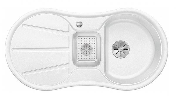 Blanco Cron 6 S 524091 Wit Spoelbak Silgranit Inclusief Draaiknopbediening Onderbouw Of Opbouw