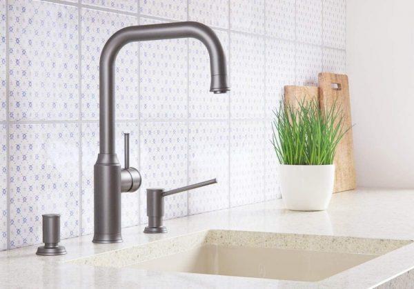 Blanco Livia-S 521290 Eenhendel Keukenkraan Met Uittrekbare Handdouche Mangan