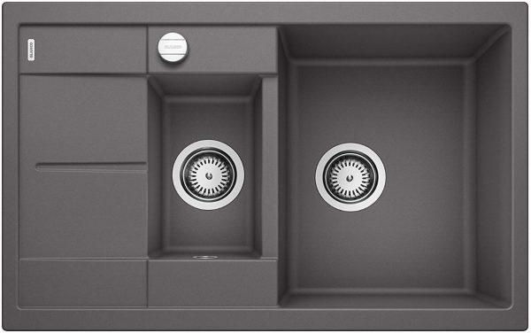 Blanco Metra 6 S Compact 518876 Rotsgrijs Spoelbak Silgranit Inclusief Draaiknopbediening Omkeerbaar Onderbouw Of Opbouw