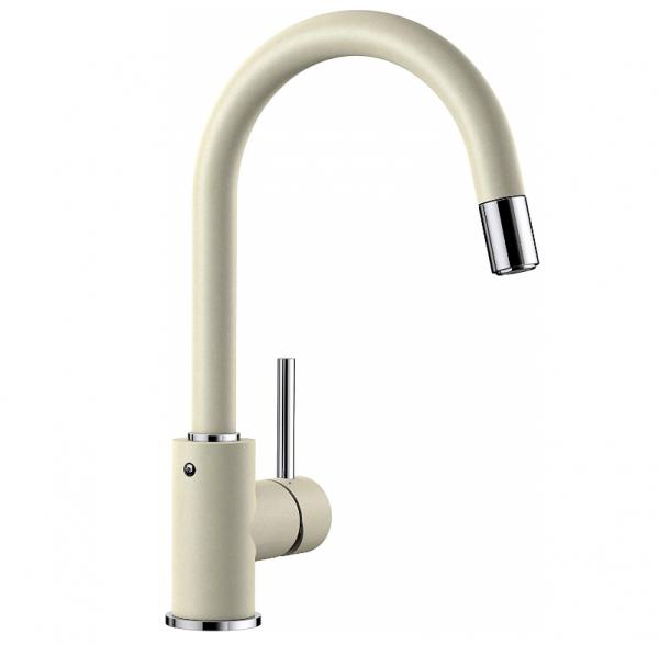 Blanco Mida-S 521458 Keukenkraan Met Uittrekbare Handdouche Silgranit-Look Jasmijn