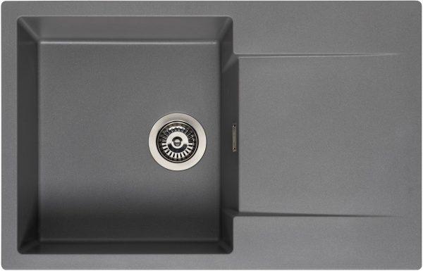 Reginox Amsterdam 78 Grey Silvery R32763 Spoelbak Graniet Opbouw