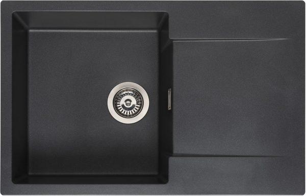 Reginox Amsterdam 78 Black Silvery R32756 Spoelbak Graniet Opbouw