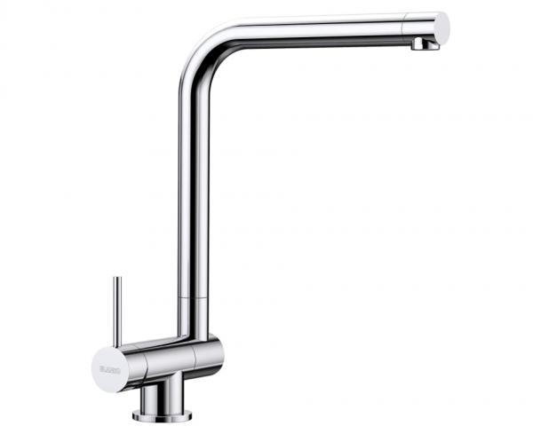 Blanco Laressa-F 521546 Eenhendel Keukenkraan Voor Raammontage Hendel Links Chroom