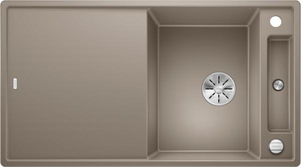 Blanco Axia Iii 5-S 523222 Spoelbak Silgranit Tartufo Inclusief Draaiknopbediening Inclusief Glazen Snijplank Omkeerbaar Onderbouw Of Opbouw