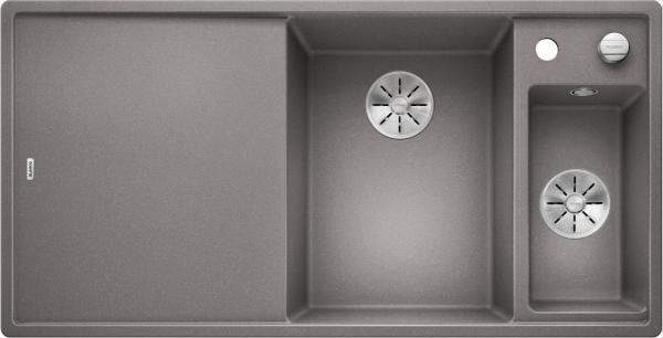 Blanco Axia Iii 6 S 523464 Spoelbak Rechts Silgranit Aluminium Metallic Inclusief Draaiknopbediening Inclusief Houten Snijplank Onderbouw Of Opbouw
