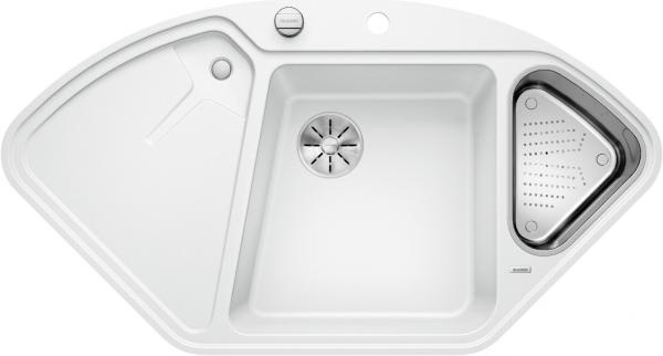 Blanco Blancodelta Ii-F 523673 Spoelbak Silgranit Wit Inclusief Draaiknopbediening Inclusief Accessoires Vlakbouw Of Onderbouw