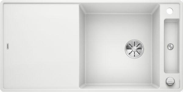 Blanco Axia Iii 6 S-F 523529 Spoelbak Silgranit Wit Inclusief Draaiknopbediening Inclusief Glazen Snijplank Omkeerbaar Vlakbouw Of Onderbouw