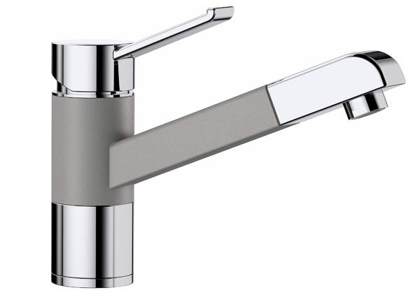 Blanco Zenos-S 517820 Eenhendel Keukenkraan Silgranit Look Met Uittrekbare Handdouche Aluminium Metallic