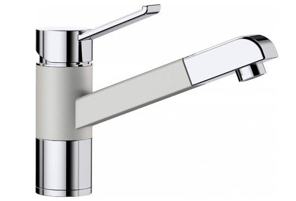 Blanco Zenos-S 520760 Eenhendel Keukenkraan Silgranit Look Met Uittrekbare Handdouche Parelgrijs