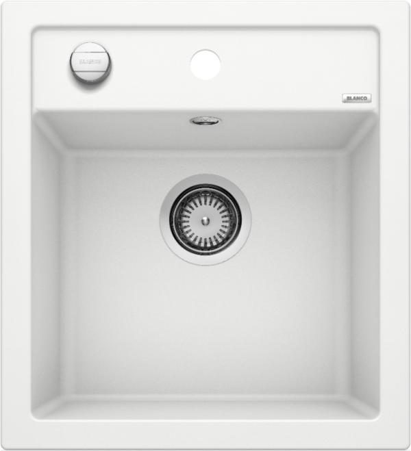 Blanco Dalago 45 517160 Spoelbak Silgranit Wit Inclusief Draaiknopbediening Onderbouw Of Opbouw