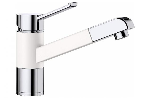 Blanco Zenos-S 517822 Eenhendel Keukenkraan Met Uittrekbare Handdouche Silgranit Look Wit