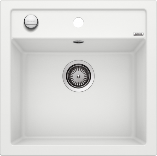 Blanco Dalago 5 518524 Spoelbak Silgranit Wit Inclusief Draaiknopbediening Onderbouw Of Opbouw