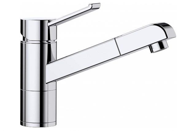 Blanco Zenos-S 517815 Eenhendel Keukenkraan Met Uittrekbare Handdouche Chroom