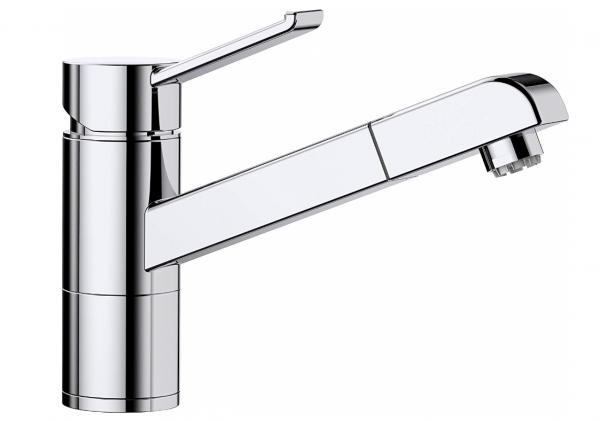 Blanco Zenos-S 517816 Eenhendel Keukenkraan Met Uittrekbare Handdouche Voor Lage Druk Chroom