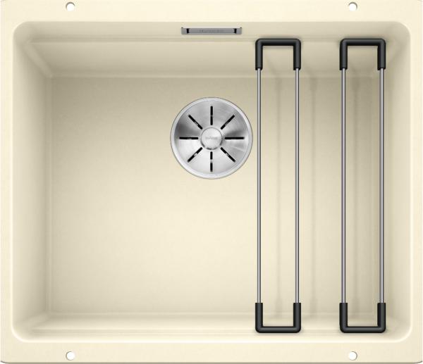 Blanco Etagon 500-U 522232 Spoelbak Silgranit Jasmijn Inclusief Rails Onderbouw