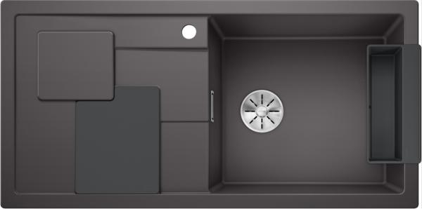 Blanco Sity Xl 6 S 525049 Spoelbak Rechts Silgranit Rotsgrijs Inclusief Accessoires Lavagrijs Onderbouw Of Opbouw