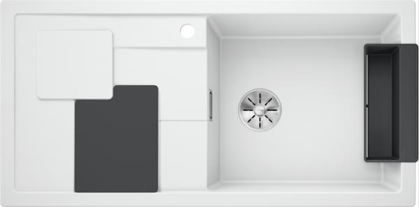 Blanco Sity Xl 6 S 525051 Spoelbak Rechts Silgranit Wit Inclusief Accessoires Lavagrijs Onderbouw Of Opbouw