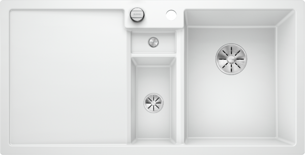 Blanco Collectis 6 S 523348 Spoelbak Rechts Silgranit Wit Inclusief Draaiknopbediening Inclusief Accessoires Opbouw