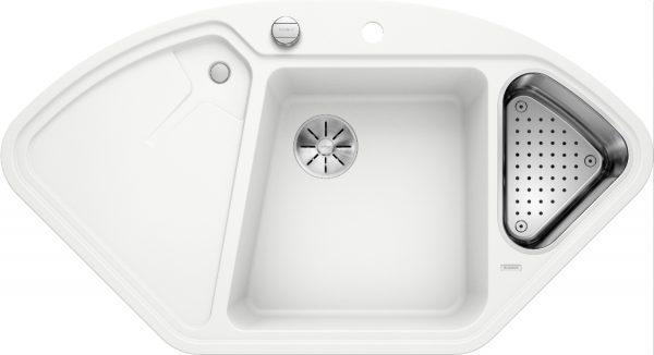 Blanco Blancodelta Ii 523660 Spoelbak Silgranit Wit Inclusief Draaiknopbediening Inclusief Accessoires Onderbouw Of Opbouw