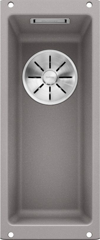 Blanco Subline 160-U 523398 Spoelbak Silgranit Aluminium Metallic Onderbouw