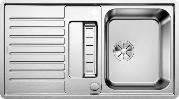 Blanco Classic Pro 5 S-If 523663 Spoelbak Rvs Inclusief Draaiknopbediening Omkeerbaar Vlakbouw Of  Opbouw