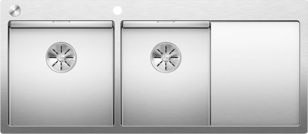 Blanco Claron 8 S-If 521652 Spoelbak Links Rvs Inclusief Pushcontrol Bediening Vlakbouw Of Opbouw