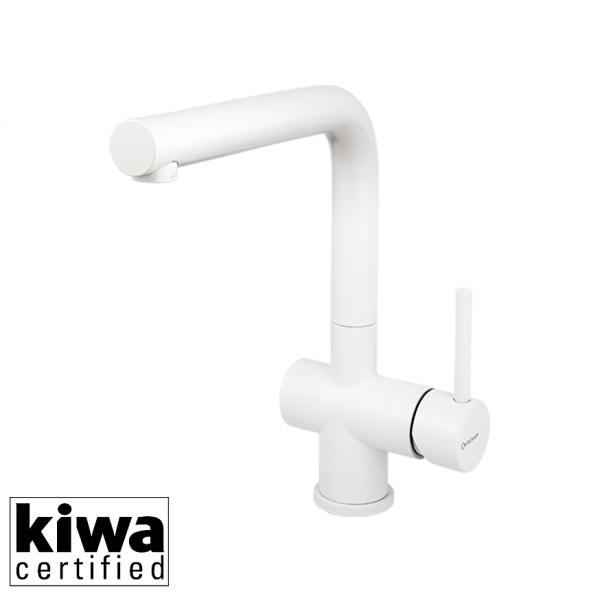 Caressi Keukenkraan Ca108Wh Eco White Line Rvs Eenhendel Keukenkraan Wit