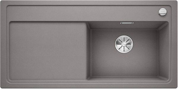 Blanco Zenar Xl 6-S 523946 Aluminium Metallic Spoelbak Rechts Silgranit Inclusief Draaiknopbediening Inclusief Snijplank Onderbouw Of Opbouw