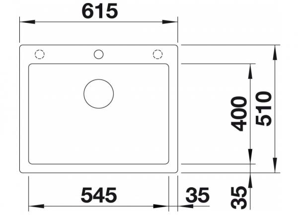 Blanco Pleon 523686 Antraciet Spoelbak Silgranit Inclusief Draaiknopbediening Opbouw Of Onderbouw