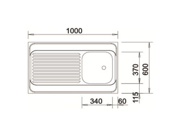 Blanco R-Es 510503 Rvs Spoelbak Opbouw