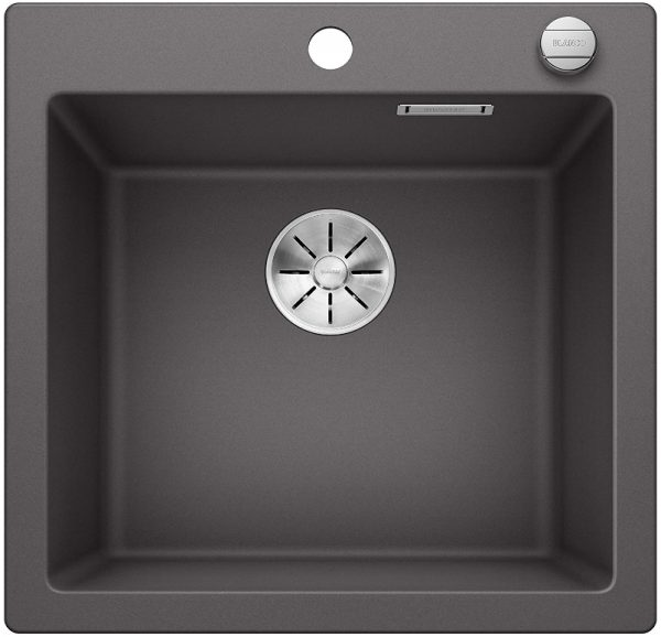Blanco Pleon 523677 Rotsgrijs Spoelbak Silgranit Inclusief Draaiknopbediening Opbouw