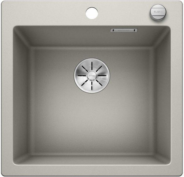 Blanco Pleon 523679 Parelgrijs Spoelbak Silgranit Inclusief Draaiknopbediening Opbouw