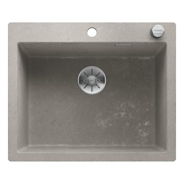 Blanco Pleon 6 525305 Silgranit Betonlook Spoelbak Inclusief Draaiknopbediening Onderbouw Of Opbouw